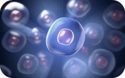 3D blue cell